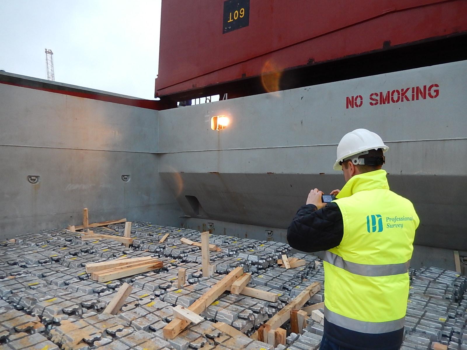 Control de estiba de Aluminio a bordo de un buque