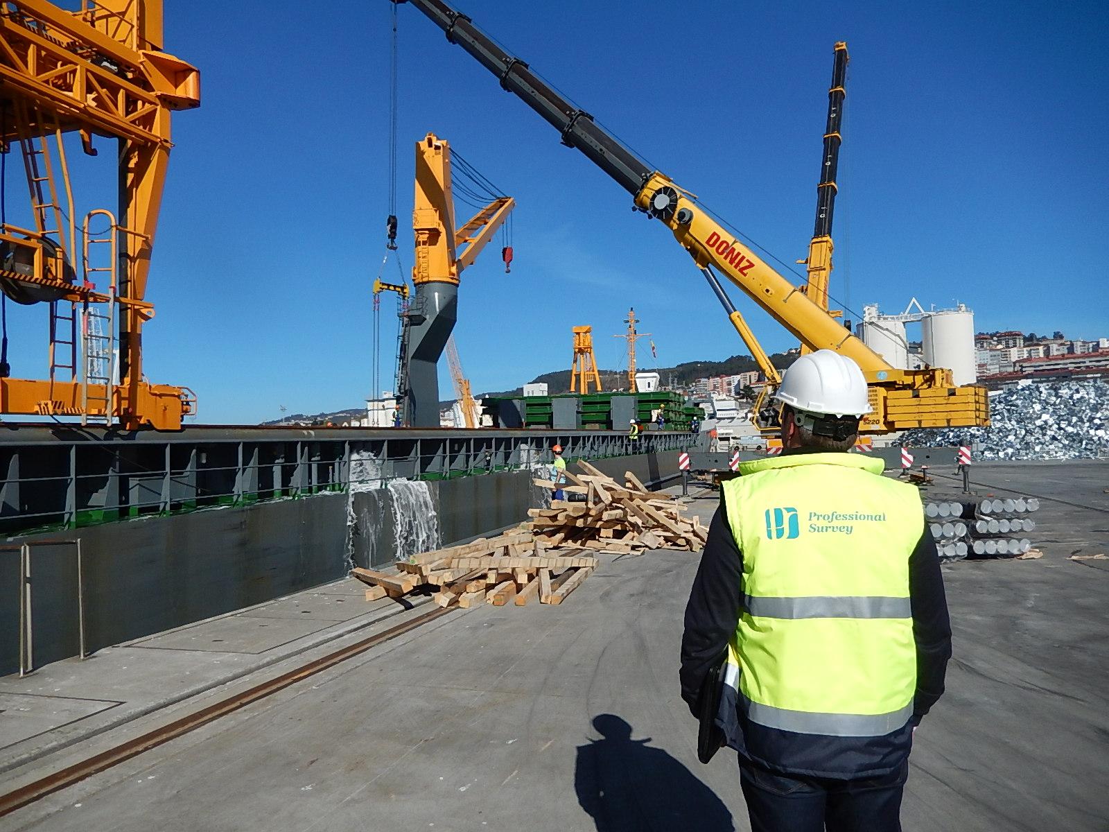 Control de descarga de mercancías en el puerto